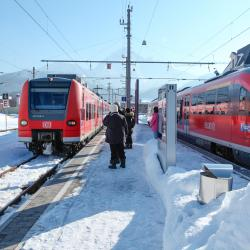 Train Station Reutte in Tyrol
