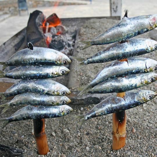 Sardine alla griglia a La Carihuela