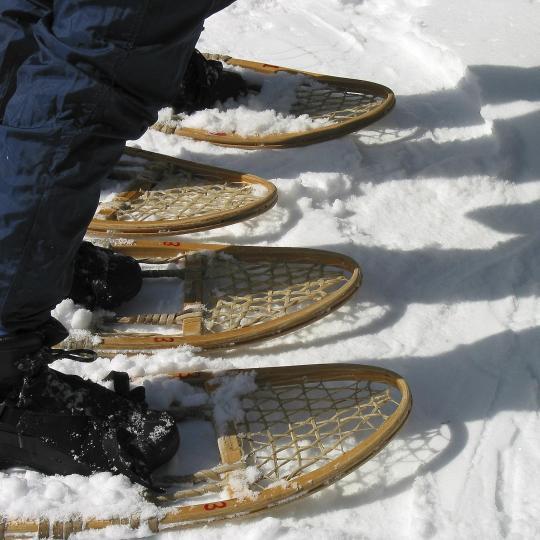 Raquettes à la station de ski Les Rousses
