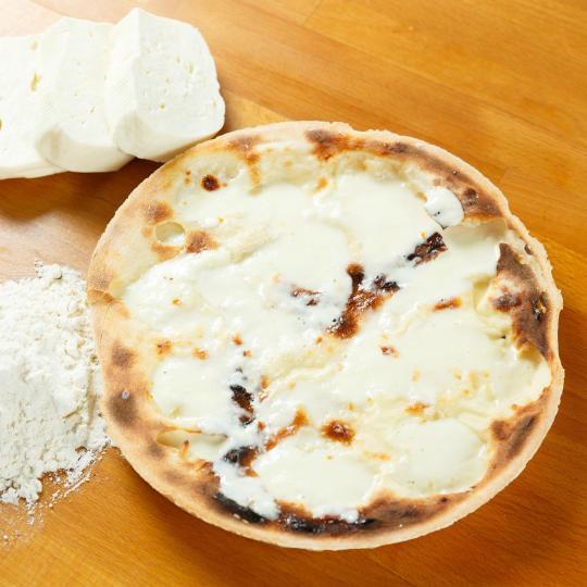 Cheesy focaccia bread in Recco