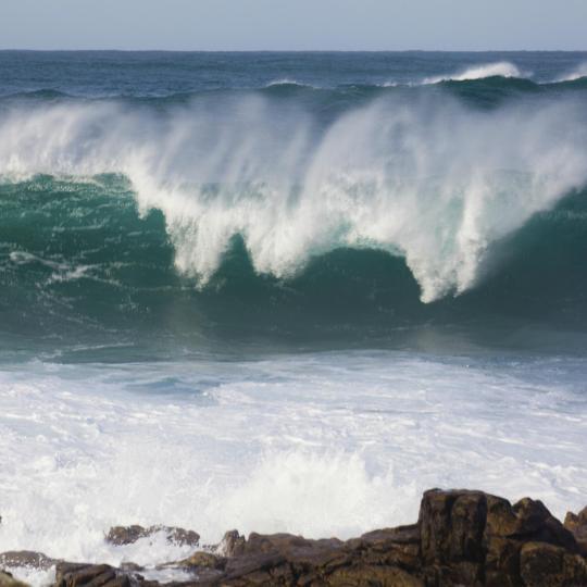 Surfing at Pantín Beach