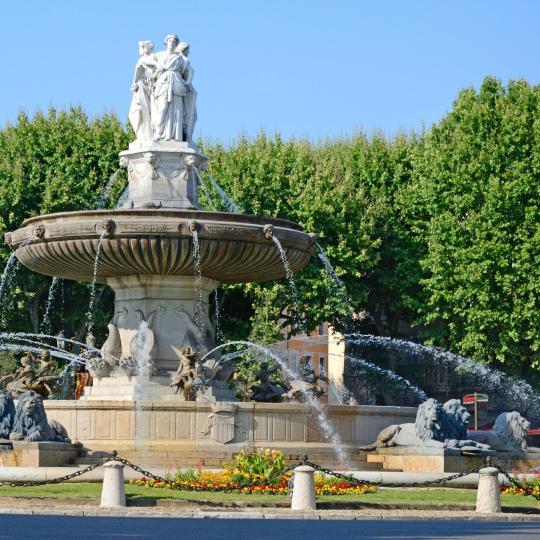 Il Cours Mirbeau ad Aix-en-Provence