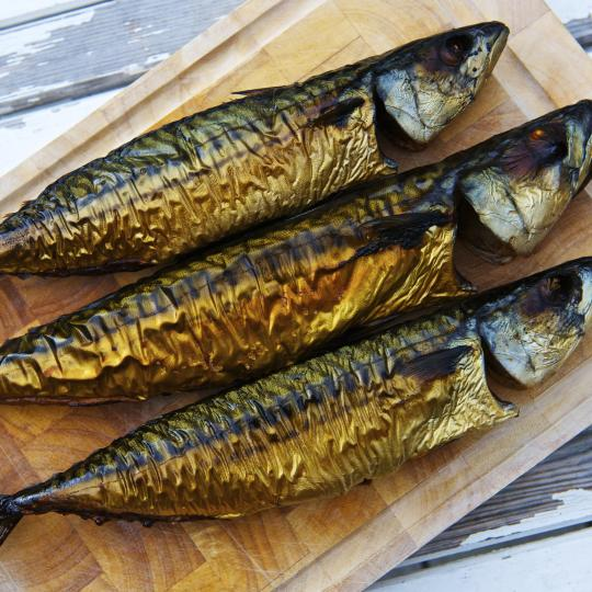 Smoked fish straight from the boat