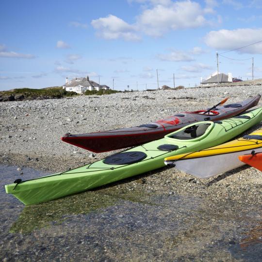 Water-sports along Wales' unspoilt coastline