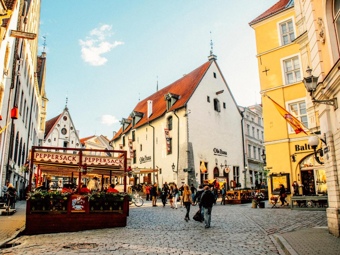 Medieval winding lanes and squares in Tallinn