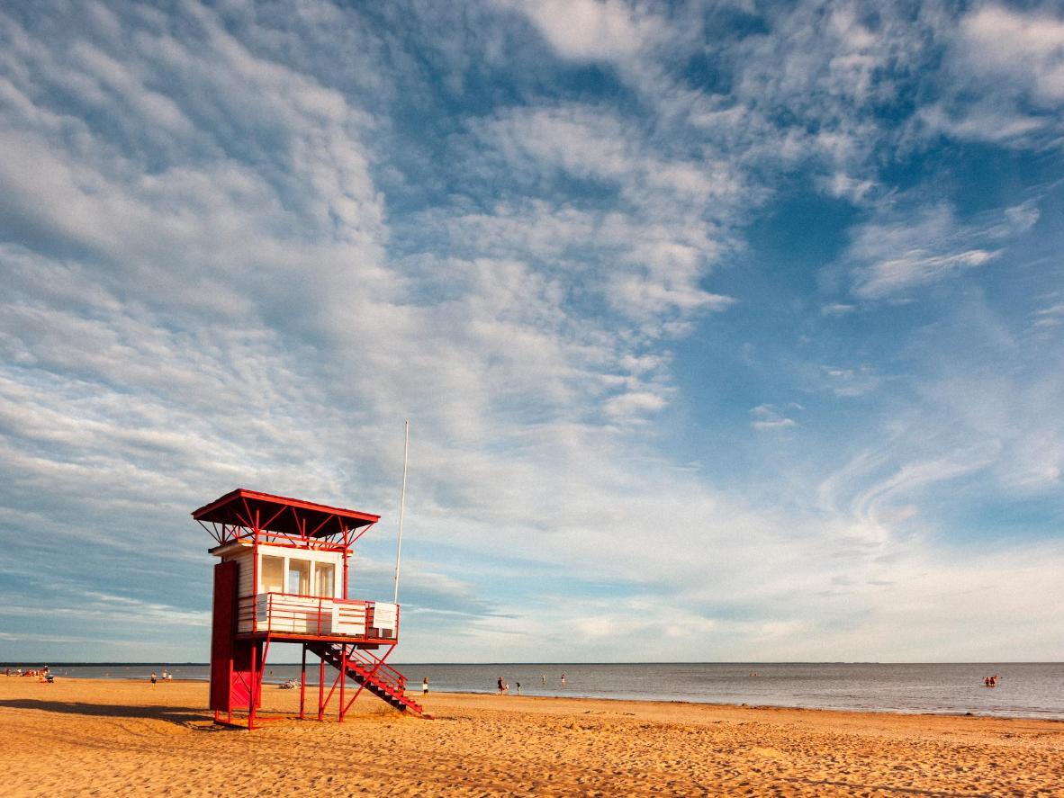 Parnu's beautiful, long stretch of sandy coastline