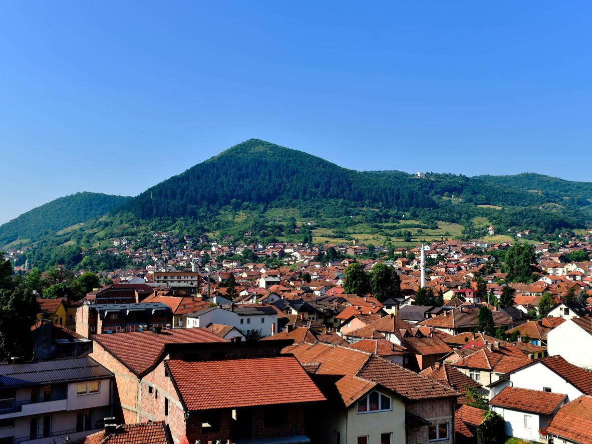 View of the Bosnian pyramids