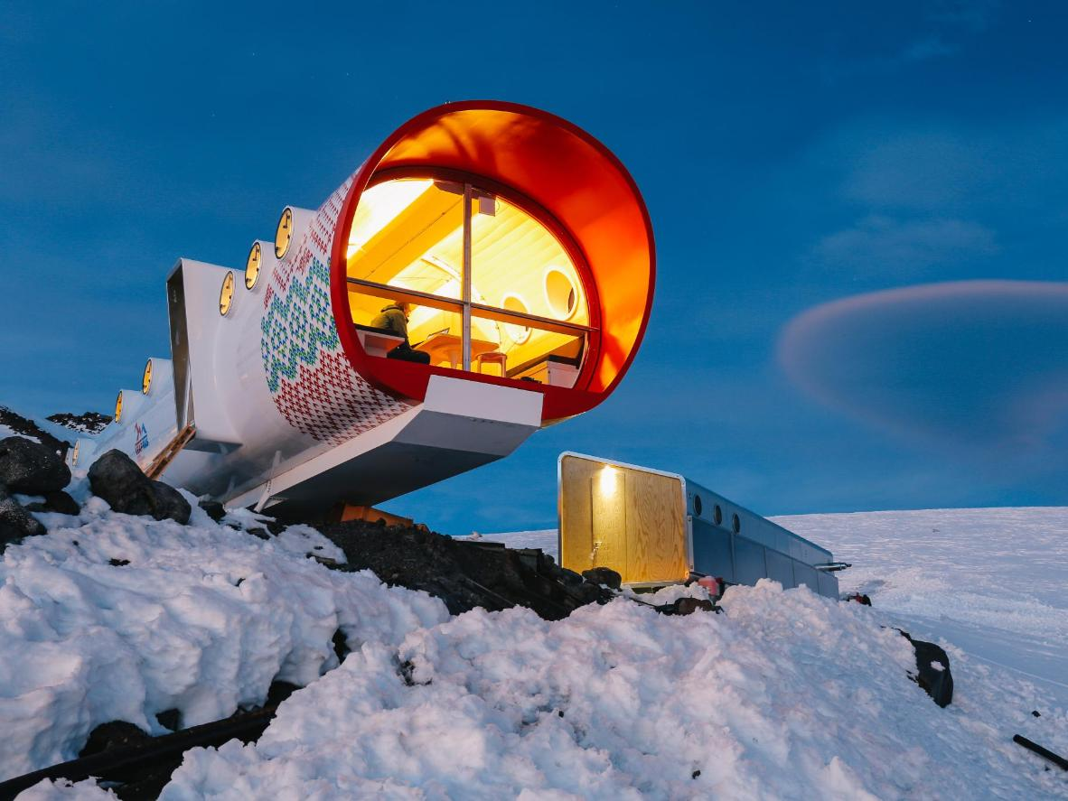Stay in the mountains at the LeapRus Capsule Hotel