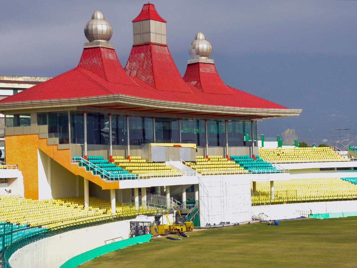 The HPCA Stadium in Dharamsala