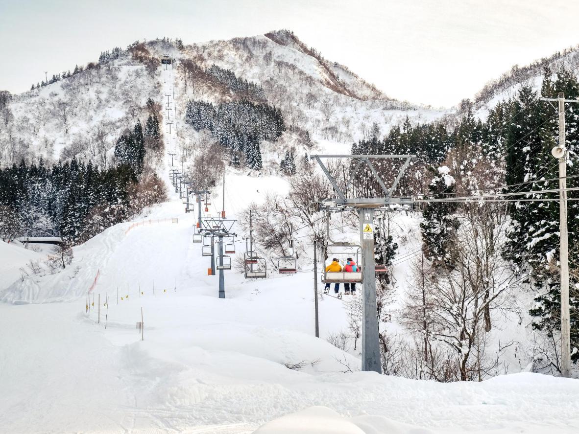 Lif ski di resort Yuzawa resort di Niigata