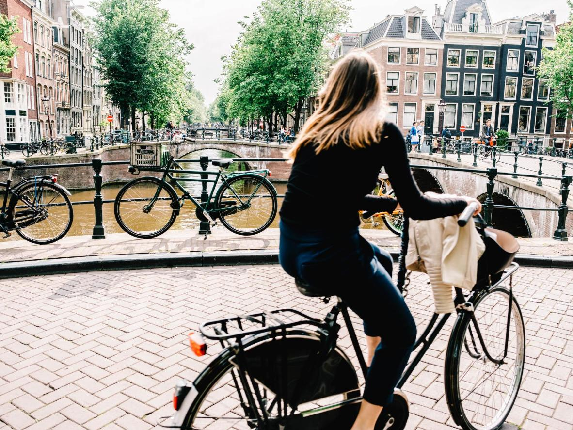 Hire an 'omafiets' (a typical Dutch bike) and whiz around the canals with ease