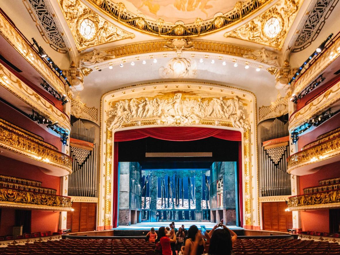 One of Brazil's foremost musical venues, the São Paulo Municipal Theater