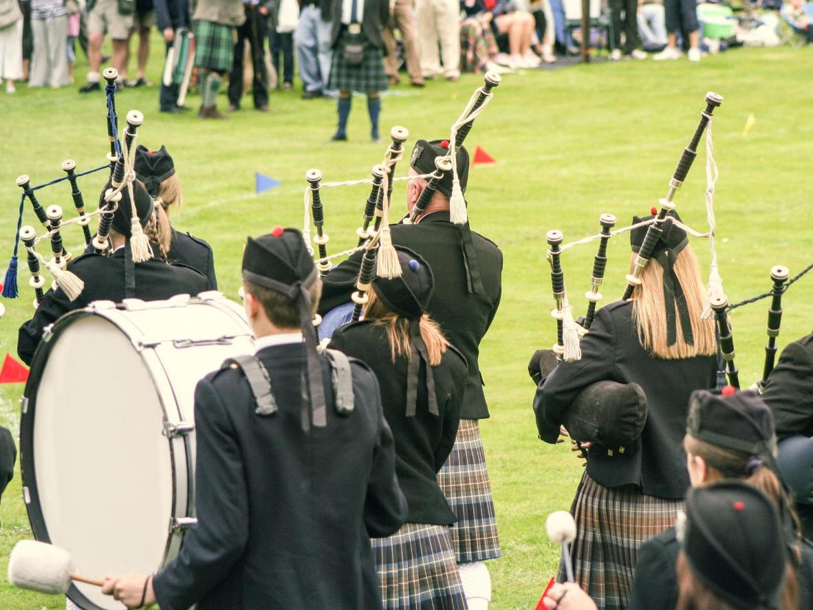A Highland band at Festival Interceltique de Lorient