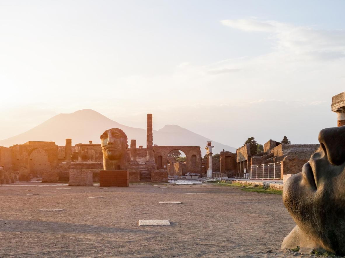 Vesuuvi varjus asuv Pompei