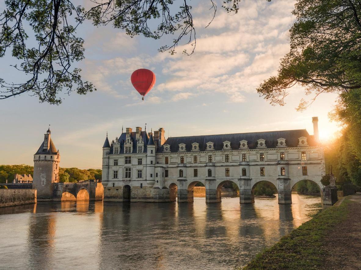 Aproveite a beleza do Vale do Loire de um balão de ar quente