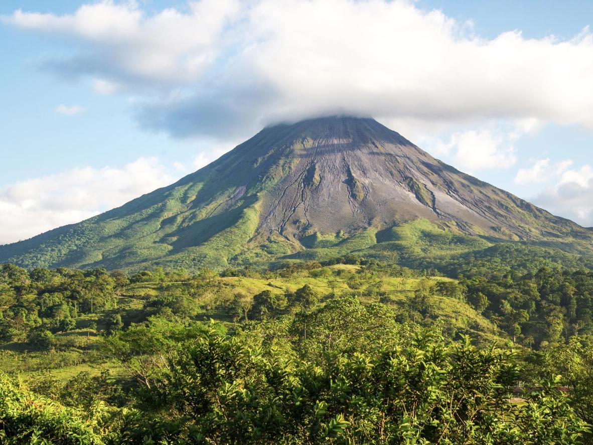 A melhor vista de Muelle e seu vulcão ativo é a 300 metros acima do solo
