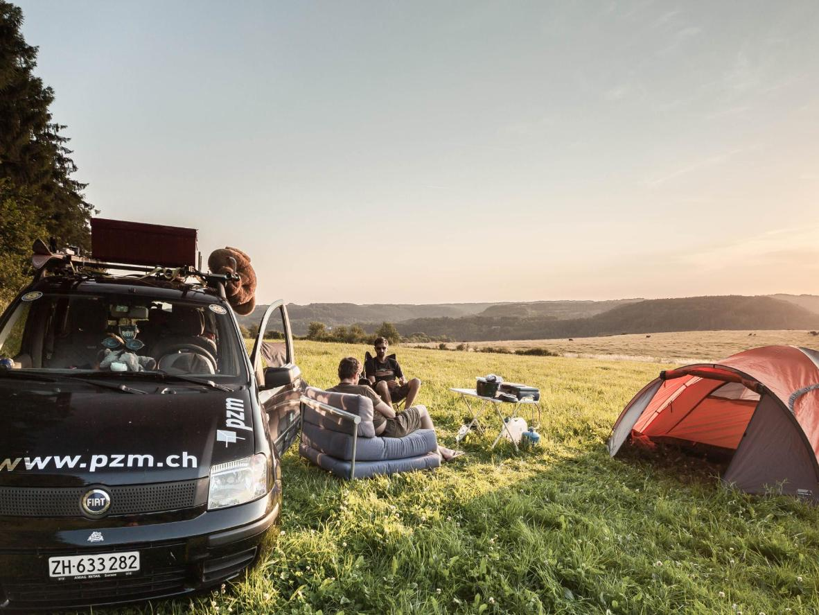 Camp amid remote rural scenery along the Mongol Rally route