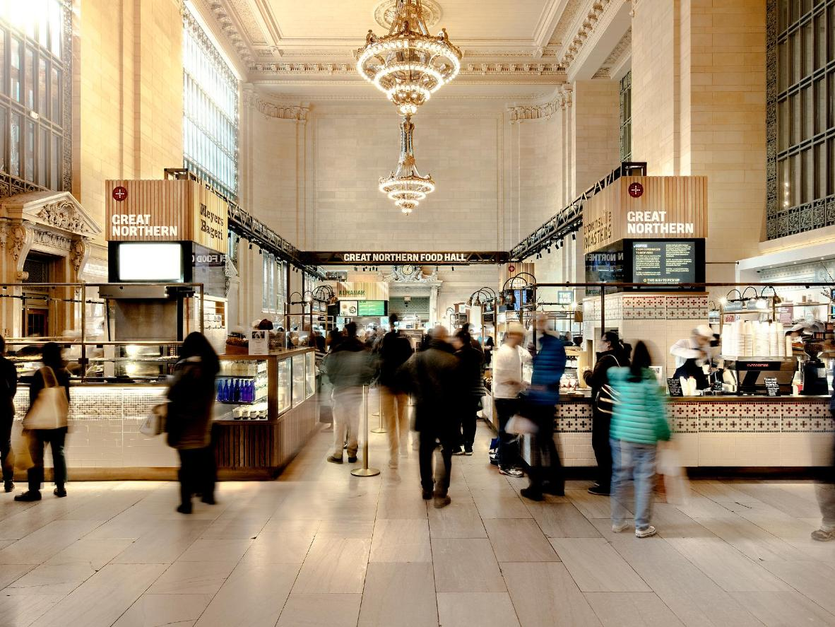 The Great Northern Food Hall jaamahoones Grand Central Station
