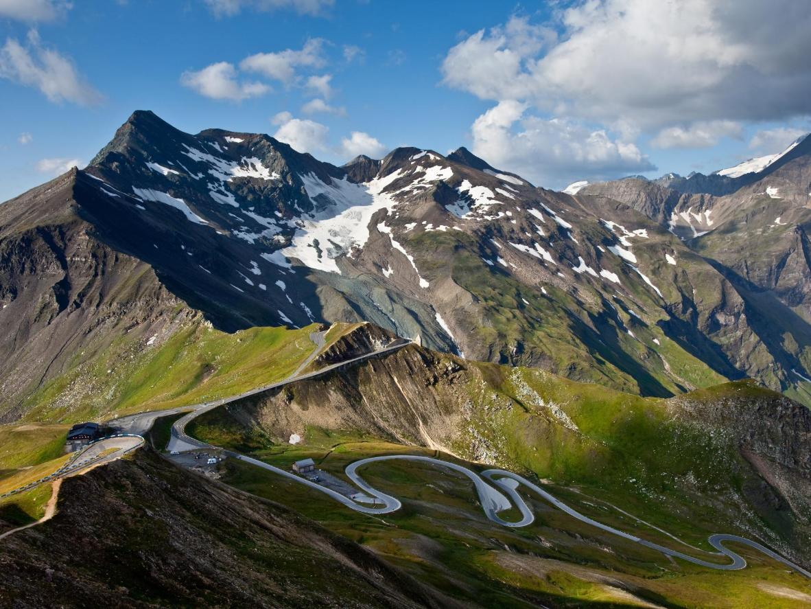 This Austrian alpine road has 36 serpentines and takes you up to an altitude of 2,504 meters above sea level