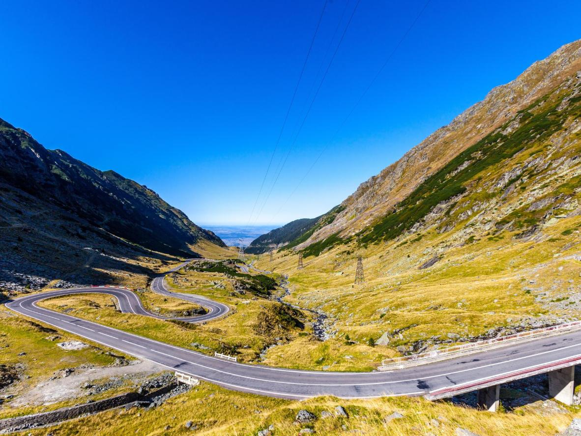 TopGear declared the Transfogaras high road the best road in the world