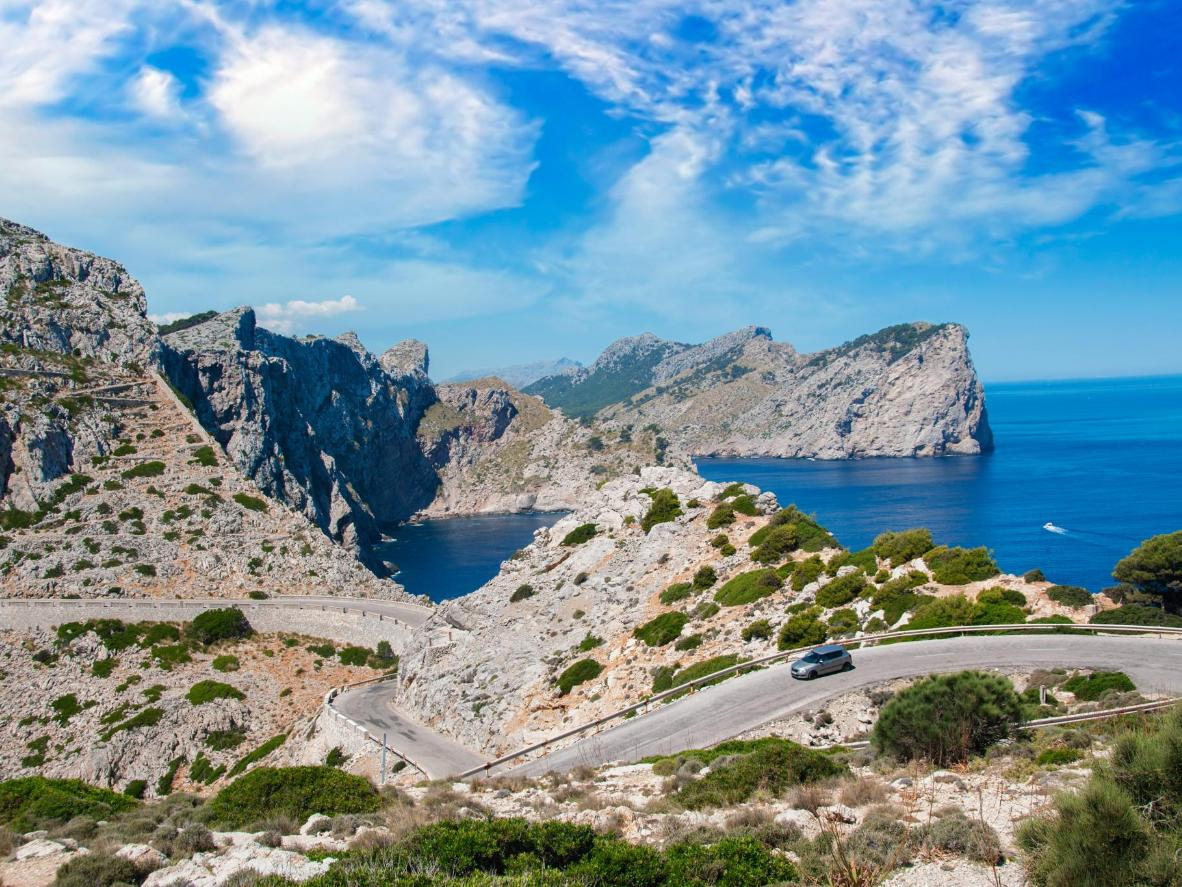 The winding mountain road to Cap de Formentor is undoubtedly worth an early start in the morning.