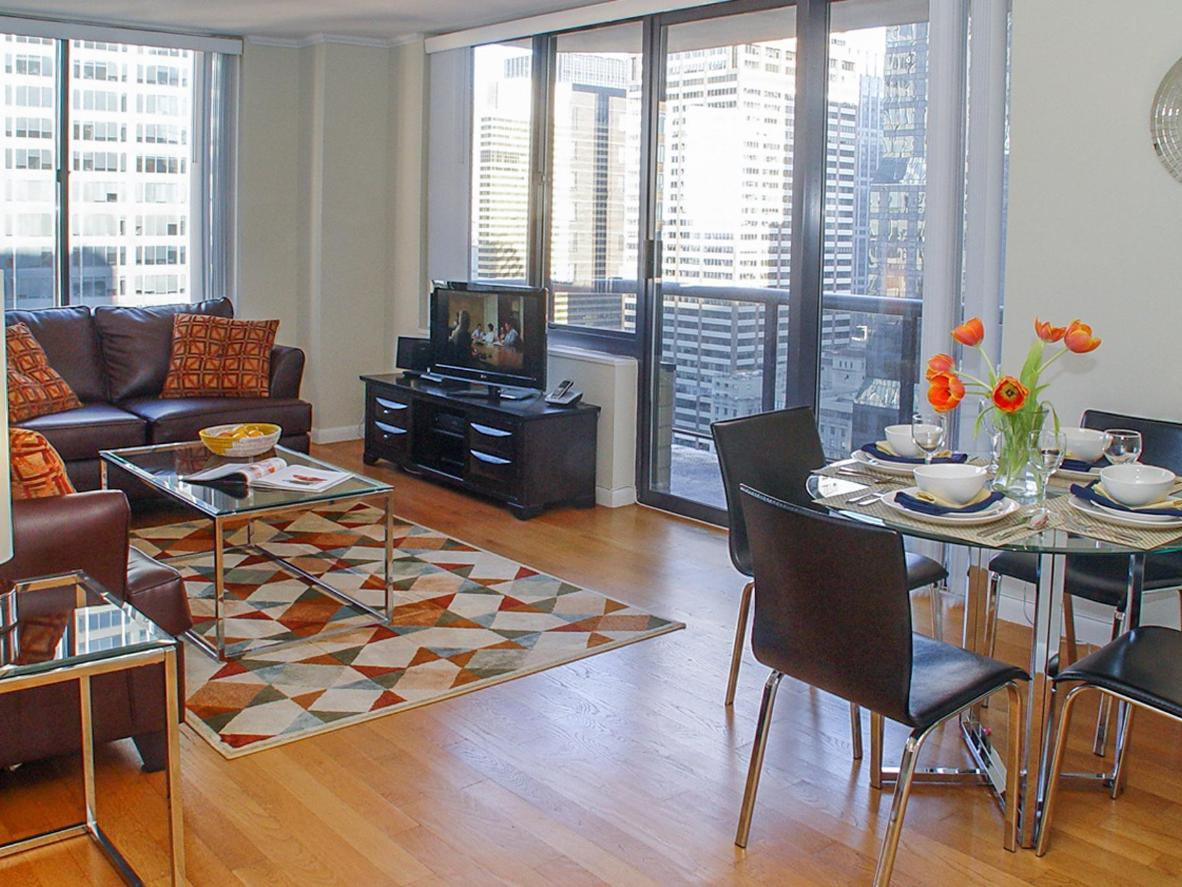 The apartment has homely touches like free WiFi and a separate dining area