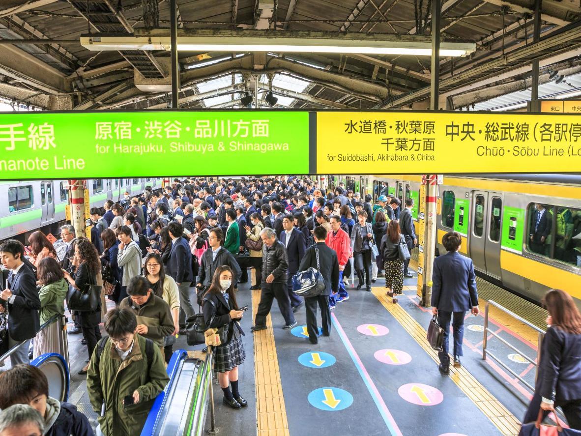 Explore Tokyo's busy subway system via 'Norwegian Wood'
