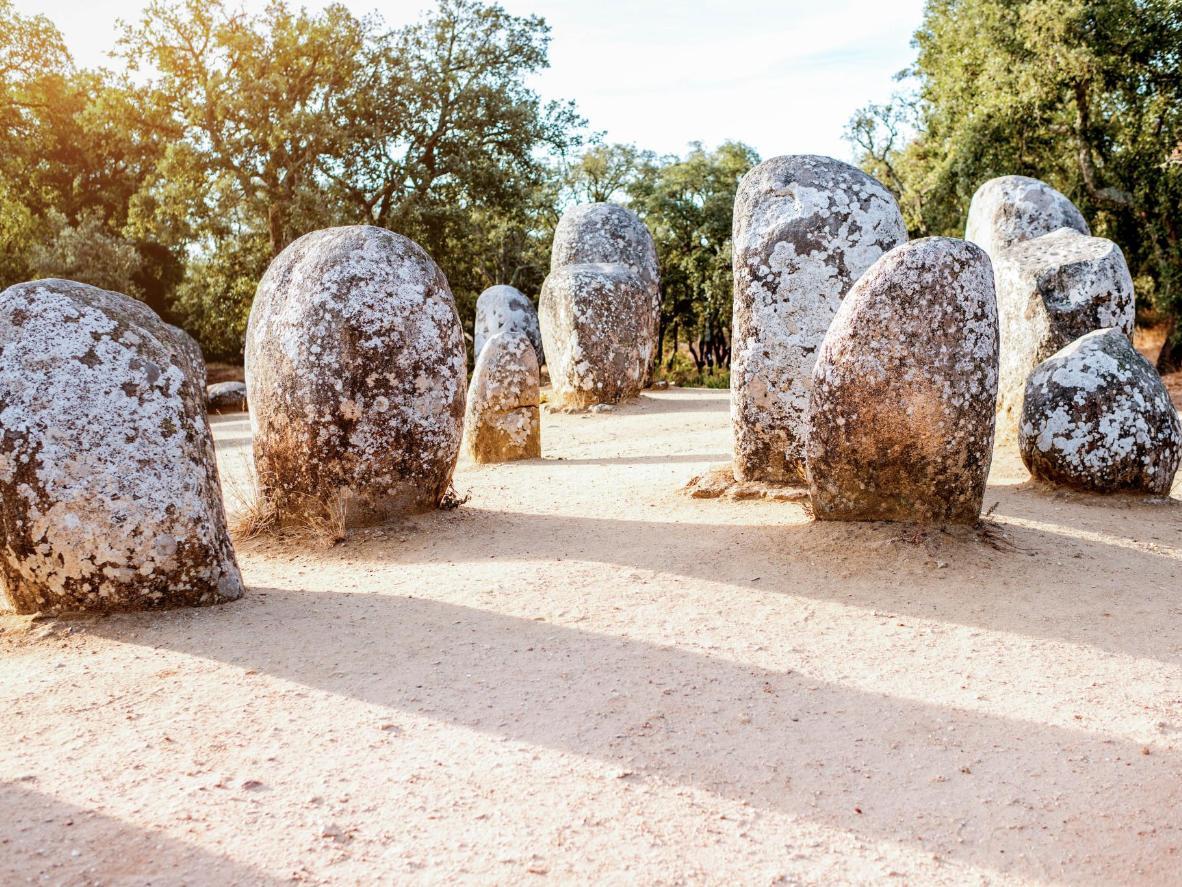 Le cromlech des Almendres à Évora