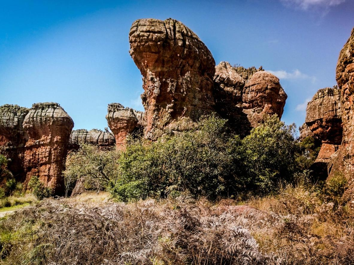 Explore Ponta Grossa's collection of strange sandstone formations in its 'stone city'