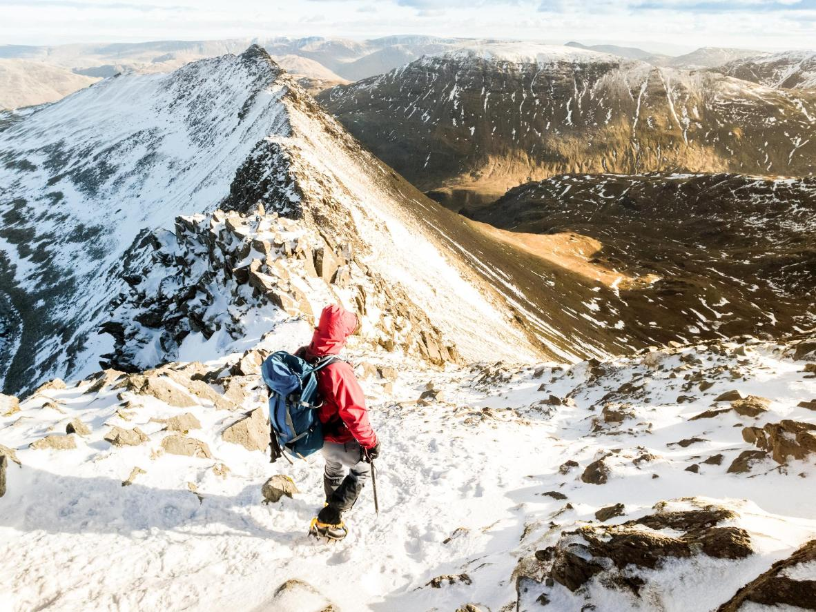 Hike up the slopes of Helvellyn, England's third highest peak
