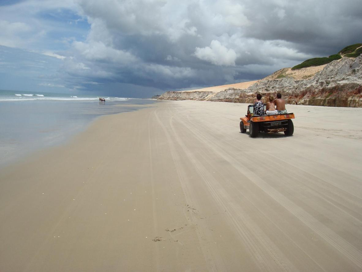 Explore the beach with a dune buggy