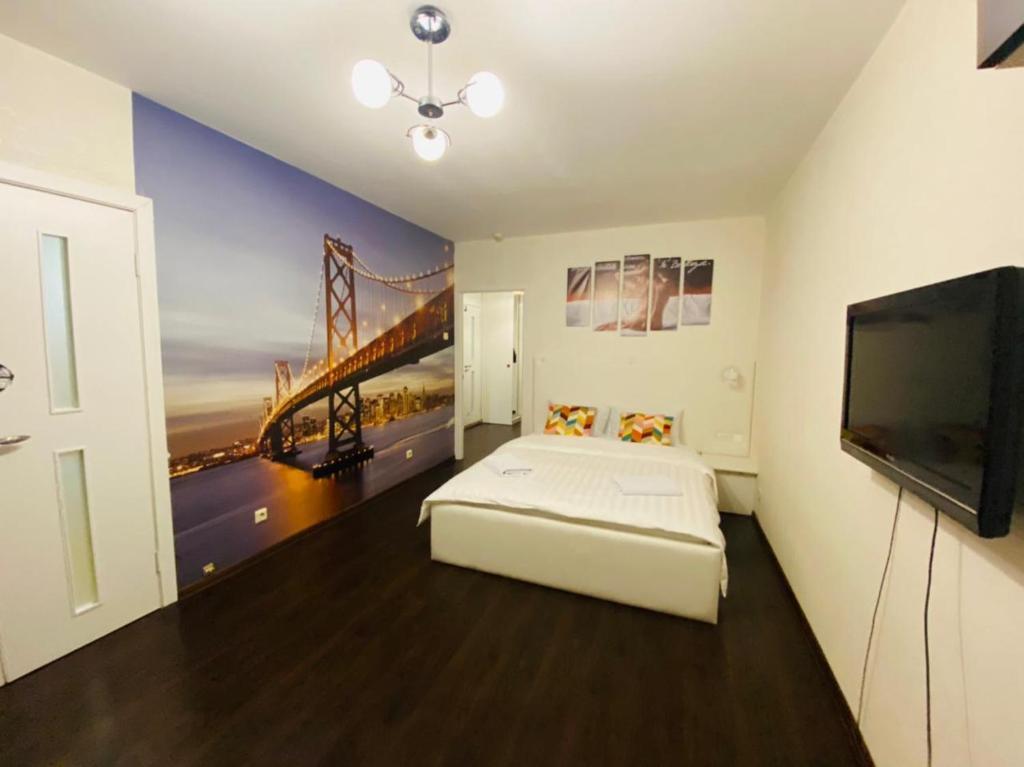 Апартаменты/квартира  Apartment Hanaka Brateevskaya 18  - отзывы Booking