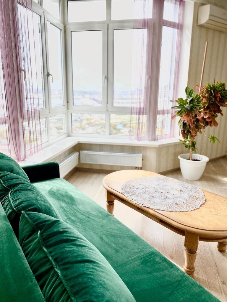 Апартаменты/квартира Апартаменты с видом на Днепр - отзывы Booking