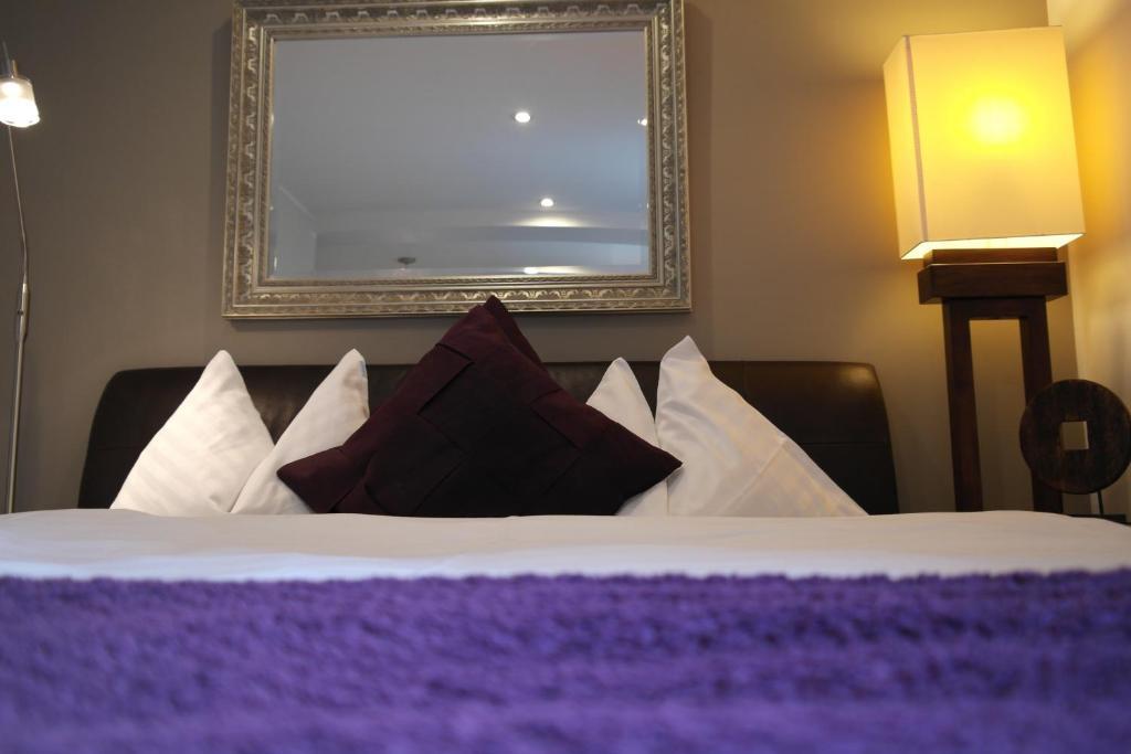 Ein Bett oder Betten in einem Zimmer der Unterkunft Pension Leichtfried