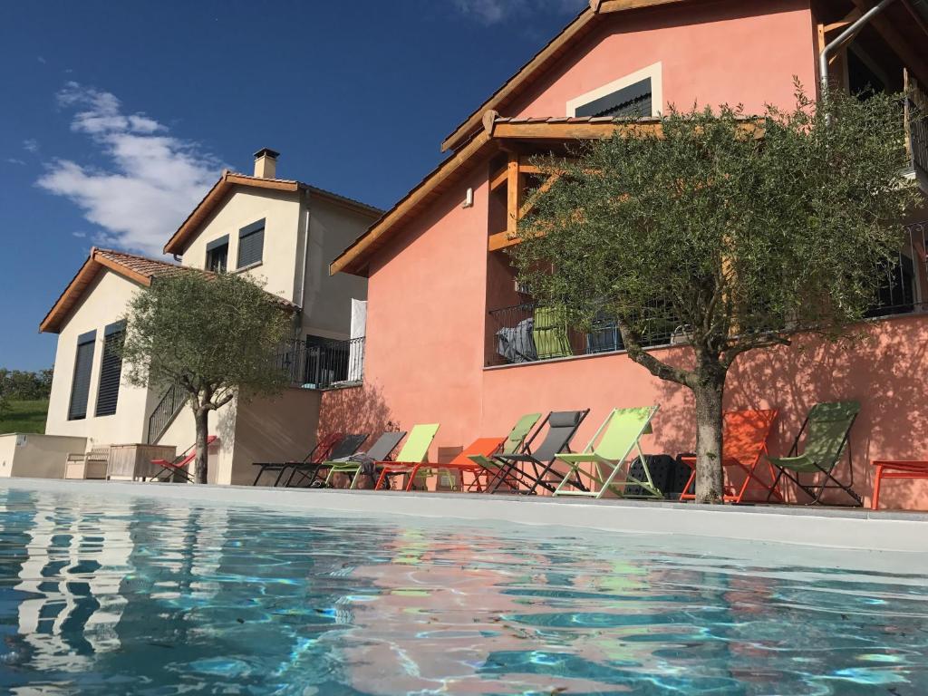 The swimming pool at or near Bonheur & Boheme