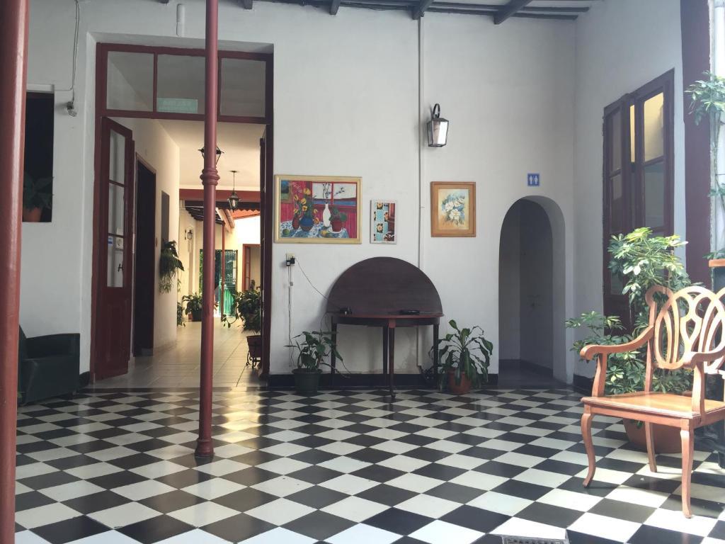El lobby o recepción de Posada Casa de Borgoña