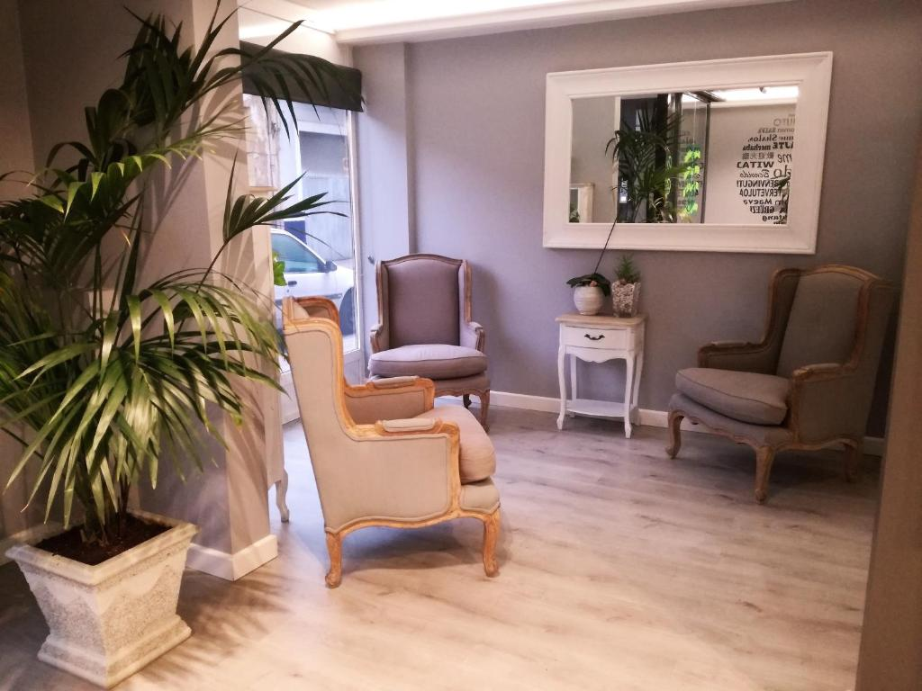A seating area at Hotel Ribeira Sacra