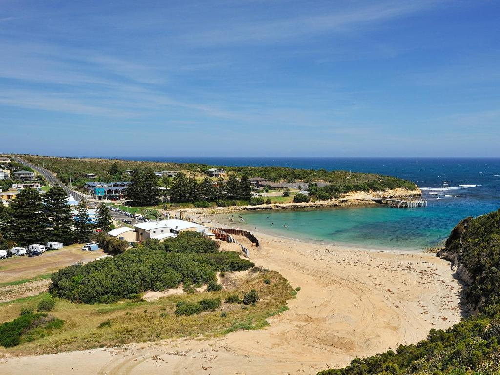 A bird's-eye view of NRMA Port Campbell Holiday Park