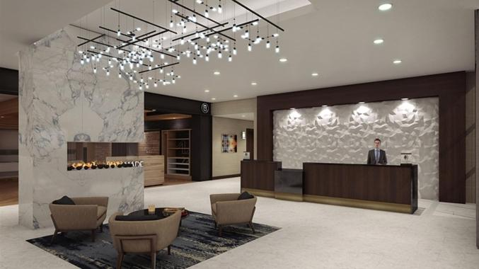 The lobby or reception area at Doubletree By Hilton Lafayette East