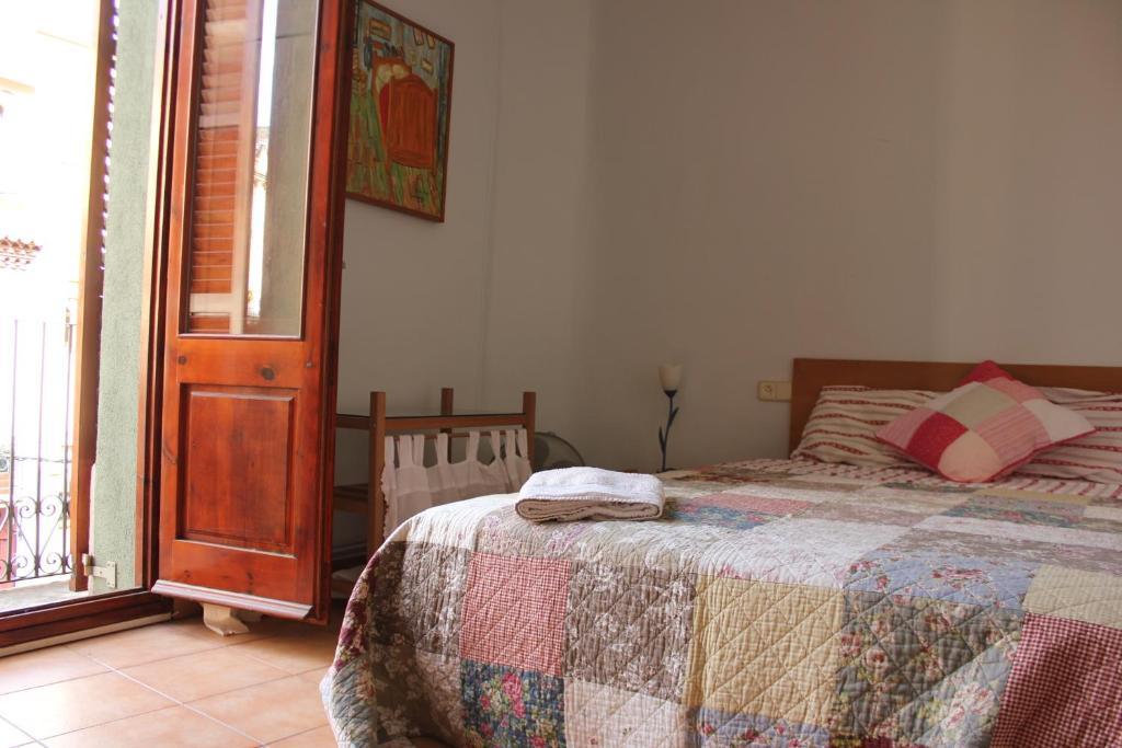 Cama o camas de una habitación en Figueres Apartment