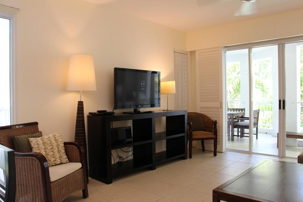 A television and/or entertainment center at 6421 BEACH CLUB