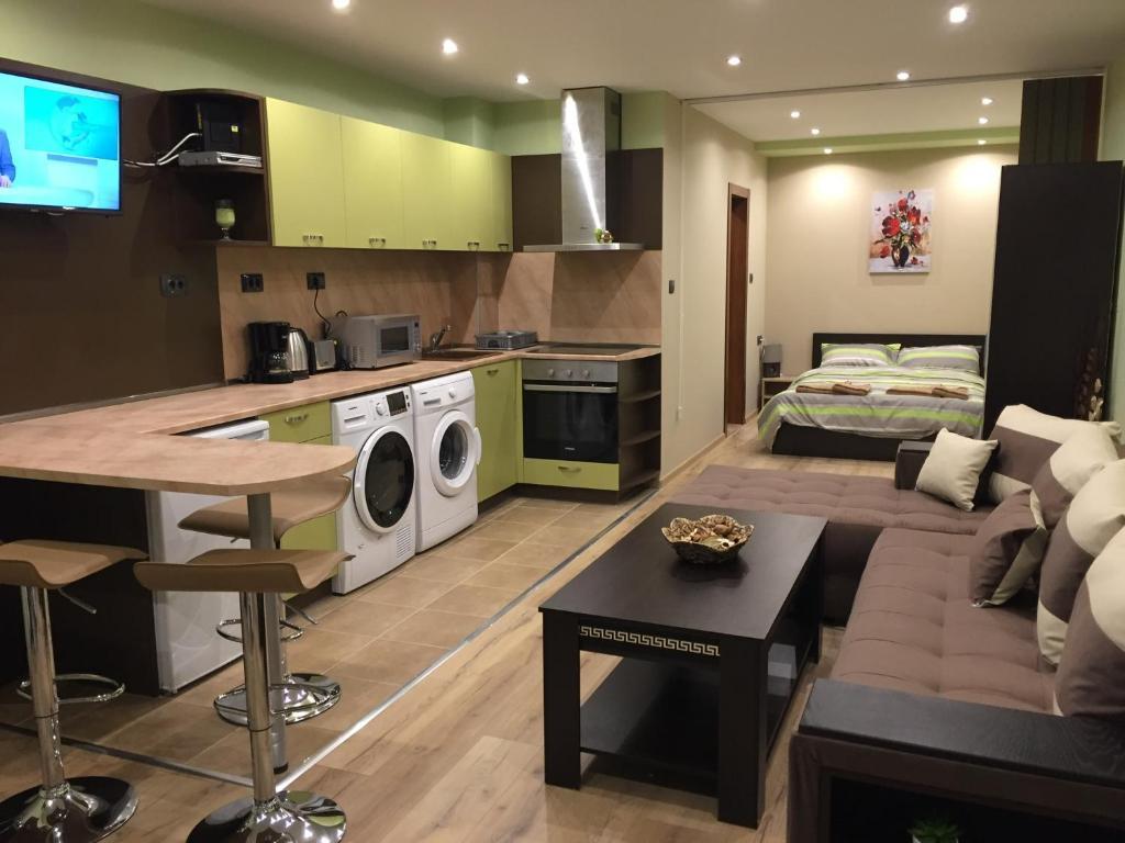 Кухня или кухненски бокс в Апартамент Даная 1