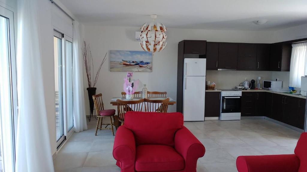 A kitchen or kitchenette at Aegean View Villa