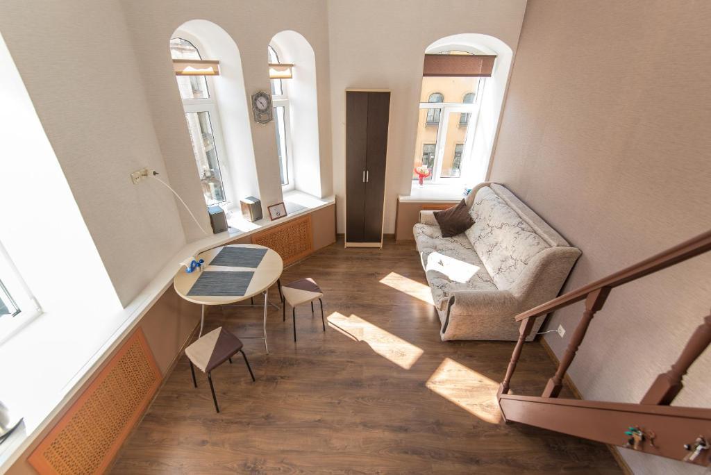 Гостиная зона в View apartment on Bolshoy 61