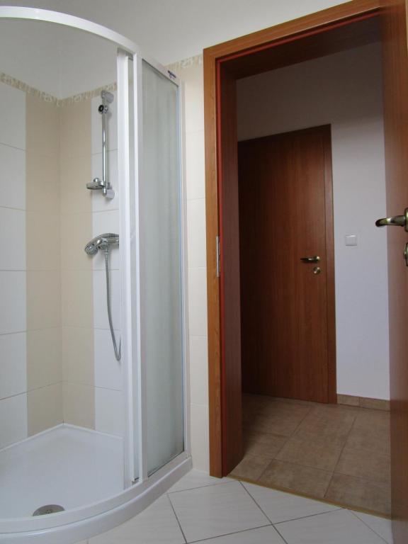 Koupelna v ubytování Penzion Alma