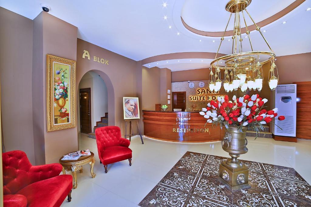Zona de hol sau recepție la Sanli Suite Hotel