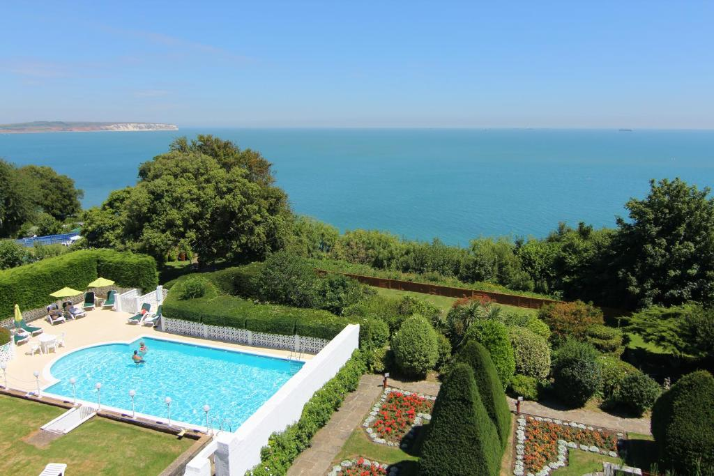 A view of the pool at Luccombe Hall Hotel or nearby