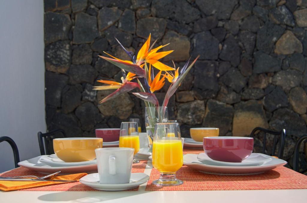 Frühstücksoptionen für Gäste der Unterkunft Oasis de Nazaret