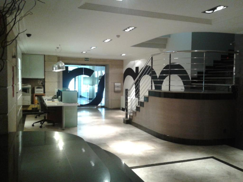 The lobby or reception area at Hotel Room