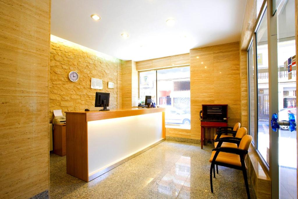 El vestíbulo o zona de recepción de La Lonja